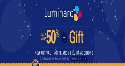 Luminarc giảm thêm 50% - quà tặng hấp dẫn